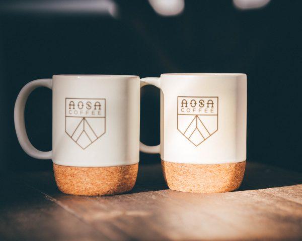 Cork-Bottom Mugs